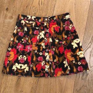 Urban Outfitters mini flower print skirt
